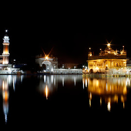 Golden Temple by Sumit Jangra - Buildings & Architecture Places of Worship ( reflection, night photography, monument, landscape, golgen temple,  )