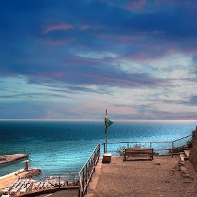 Luce sul Mare by Mark Soetebier - Landscapes Beaches ( mare, tuscany, toscana, mediterranean, sea, seascape, castiglion della pescaia,  )