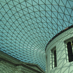 British Museum by Del Candler - Abstract Patterns ( england, london, british museum, glass, pwclines, shadows, room, Architecture, Ceilings, Ceiling, Buildings, Building,  )