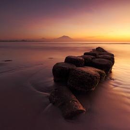 Matahari Terbit Beach by Gede Widiarsa - Landscapes Beaches ( bali, padang galak, beach, sunrise, denpasar )