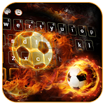 Fire Football Kick Keypad Theme Icon
