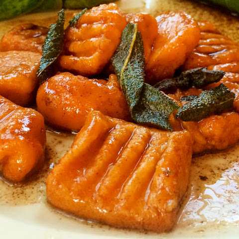 Sweet Potato Gnocchi and Brown Butter Sage Sauce