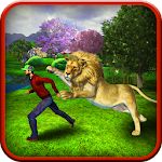 Angry Lion Jungle Simulation Icon