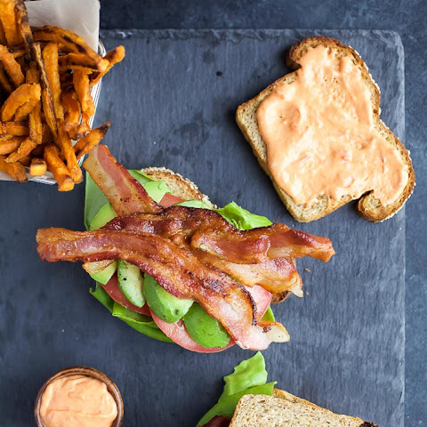 The Ultimate Avocado BLT with Harissa Mayo