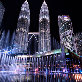 KLCC water fountain by Jasni Ulak - City,  Street & Park  City Parks