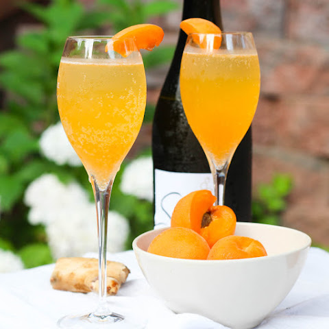 Apricot Ginger Bellini