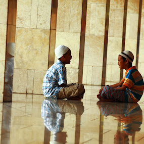 kids from mosque istiqila by Khairur Rijal Pauzi - People Portraits of Men ( canon, mosque, kids, people, human )