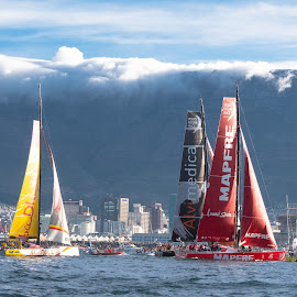 Volvo Ocean Race by Geoff Jordaan - Transportation Boats