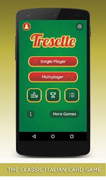 Tresette free apk screenshot