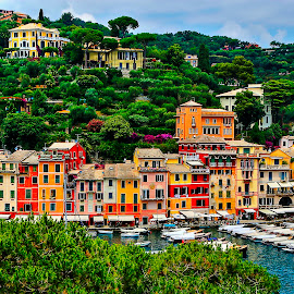 portofino by Ayhan Özkur - Buildings & Architecture Homes ( sea, portofino, travel, landscape, italy )