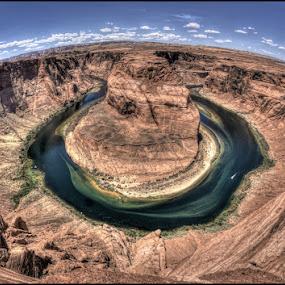 Horse Shoe Bend, UT  by Bruce Martin - Landscapes Caves & Formations ( nation parks, utah, horse shoe river bend,  )