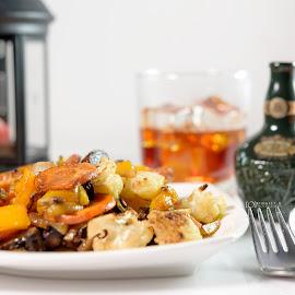 Baked vegetables by Kingsly Xavier George - Food & Drink Cooking & Baking ( salad, healthy, chivas regal, drinks, baked vegetables )