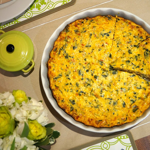 Low Fat Crustless Spinach Quiche