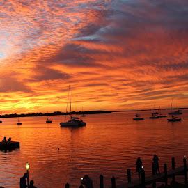 Key largo Sunset by Joreta Gregory - Landscapes Sunsets & Sunrises ( water, key largo, sunset, florida, beautiful, shadows )