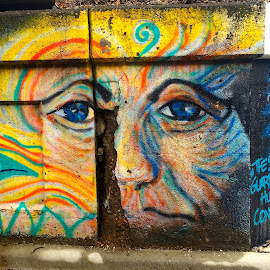 I SEE YOU by Louis Perlia - City,  Street & Park  Street Scenes ( face, colorful, graffiti, art, artistic, photo stream, eyes )