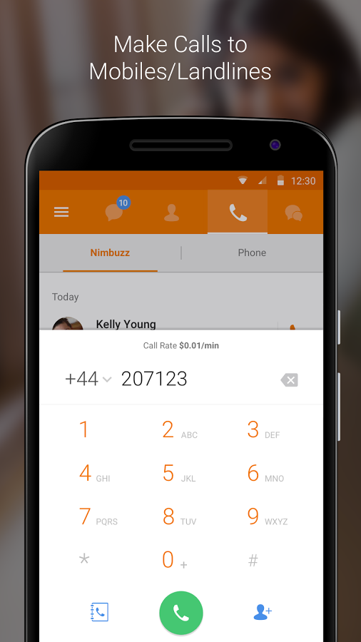 Nimbuzz Messenger / Free Calls Screenshot 2