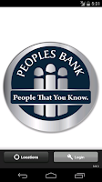 Screenshot of Peoples Bank Texas Mobile