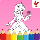 Coloring pages game: princess