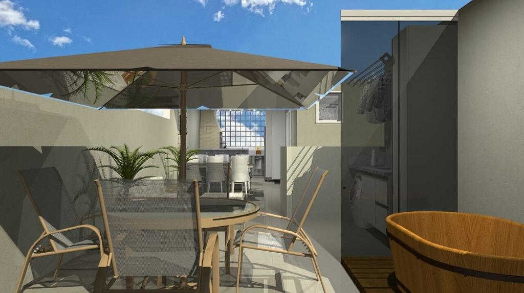 Cobertura de 2 dormitórios em Vila Helena, Santo André - SP