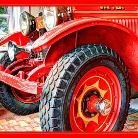 Rockwell Concept by James Eickman - Digital Art Things ( lights, window, wheels, firetruck, painting,  )