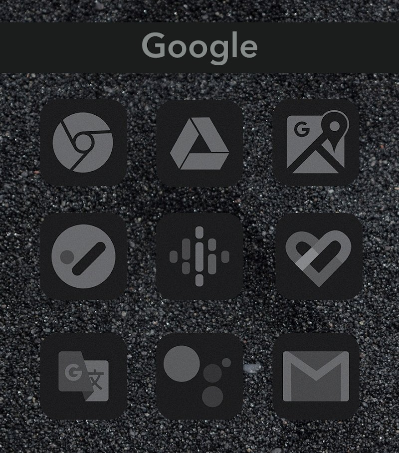 Midnight Black Icon Pack Screenshot 2