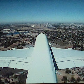 siting on the tail by Fred Goldstein - Transportation Airplanes ( johannesburg, humour, airplane, south africa, tail )