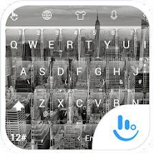 Keyboard Theme Glass City BW