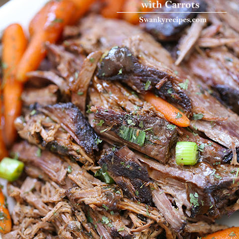 Barbecue Honey Pot Roast with Carrots