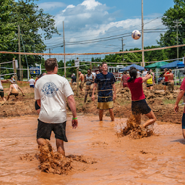 Eye on the Ball by Myra Brizendine Wilson - Sports & Fitness Other Sports ( teams, mud, volleyball, sports, mud volleyball, people )
