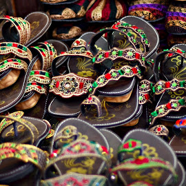 Leather footware by Prasanta Das - Artistic Objects Clothing & Accessories ( sandals, ladies', leather )