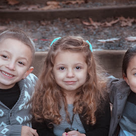 Cuties by Jenny Hammer - Babies & Children Child Portraits ( stairs, friends, kids, siblings, cute )