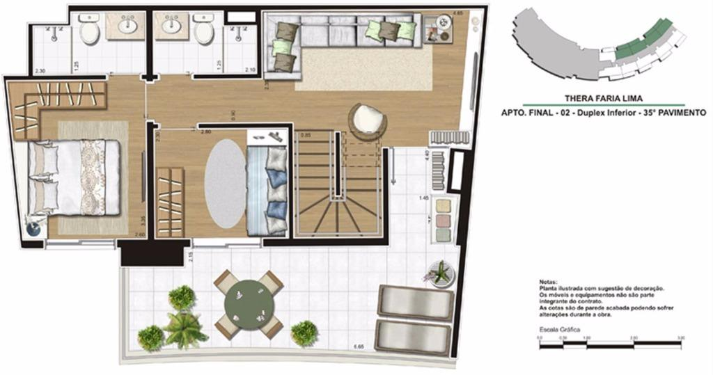Planta Duplex Inferior 138 m²