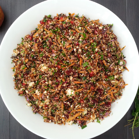Red Rice and Quinoa Winter Salad [vegetarian]