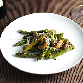 Roasted Mushrooms With Asparagus And Parmesan Cheese Recipes