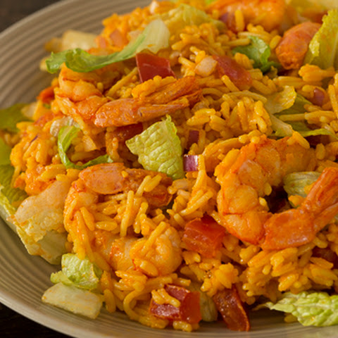 Buffalo Shrimp Ranch Salad
