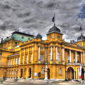 Croatian National Theatre by Zeljko Kliska - Buildings & Architecture Public & Historical ( hdr, buildings, historical, public, city,  )