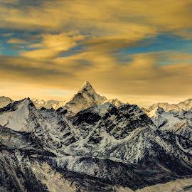 Ama Dablam by Madhujith Venkatakrishna - Landscapes Mountains & Hills
