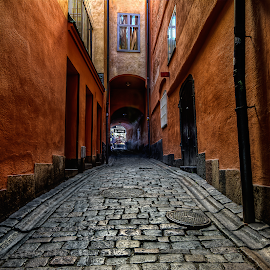 P a s s a g e - T h r o u g h - B y g o n e - E r a by Manu Heiskanen - Uncategorized All Uncategorized ( colour, history, old, manulitoo, stockholm, passage, manulit00, street, stone, windows, paulinawolekpardon, cobblestone )