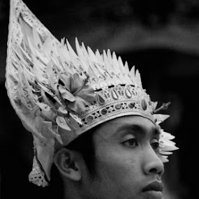 Baris Dancer by Abi Artworkers - People Portraits of Men ( bali )