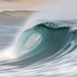 Blue Howler by Clive Wright - Landscapes Waterscapes ( wave, sea, ocean )