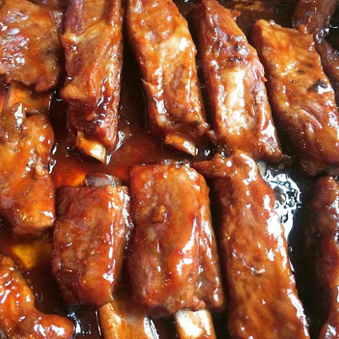 Easy Oven Baked Barbecue Teriyaki Ribs