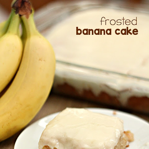 Frosted Banana Cake