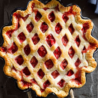 Strawberry-Rhubarb Lattice Pie
