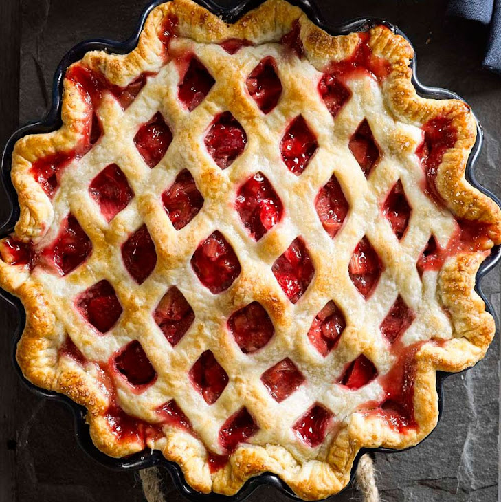 Latticed Rhubarb Pie Recipes — Dishmaps