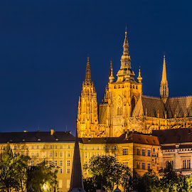 by Mario Horvat - Buildings & Architecture Places of Worship ( church, night, chatedral, prague, travel, czech )