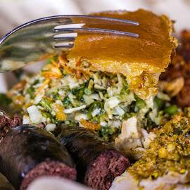 Babi Guling by Varok Saurfang - Food & Drink Plated Food ( fork, sausages, pork, belly, crispy )