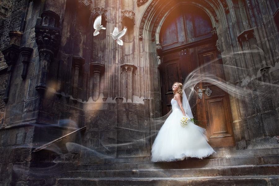 Prague Fairytale Wedding by Roman Lutkov - Wedding Bride