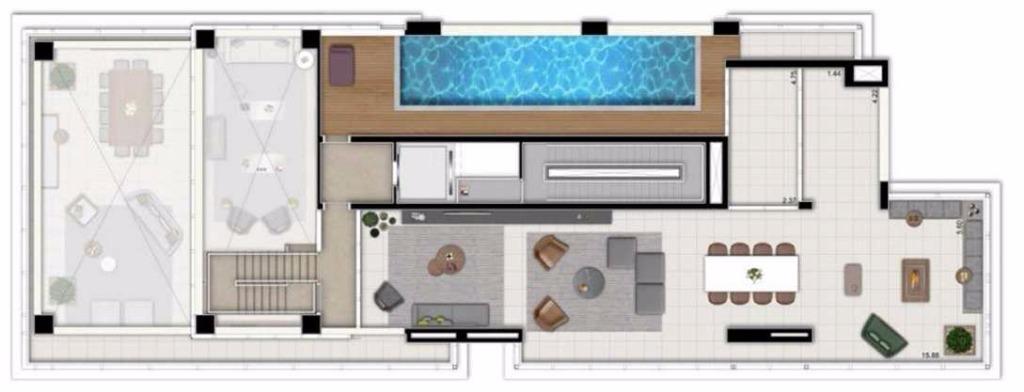 Cobertura Duplex Superior - 592 m²