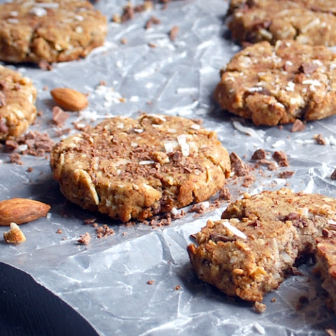 Almond Meal Cookies with Coconut & Chocolate Chips