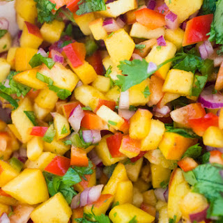 Sweet And Spicy Peach Salsa